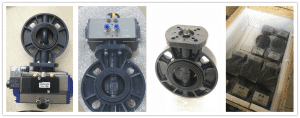PVC-U butterfly valve flat shaft drive actuator use