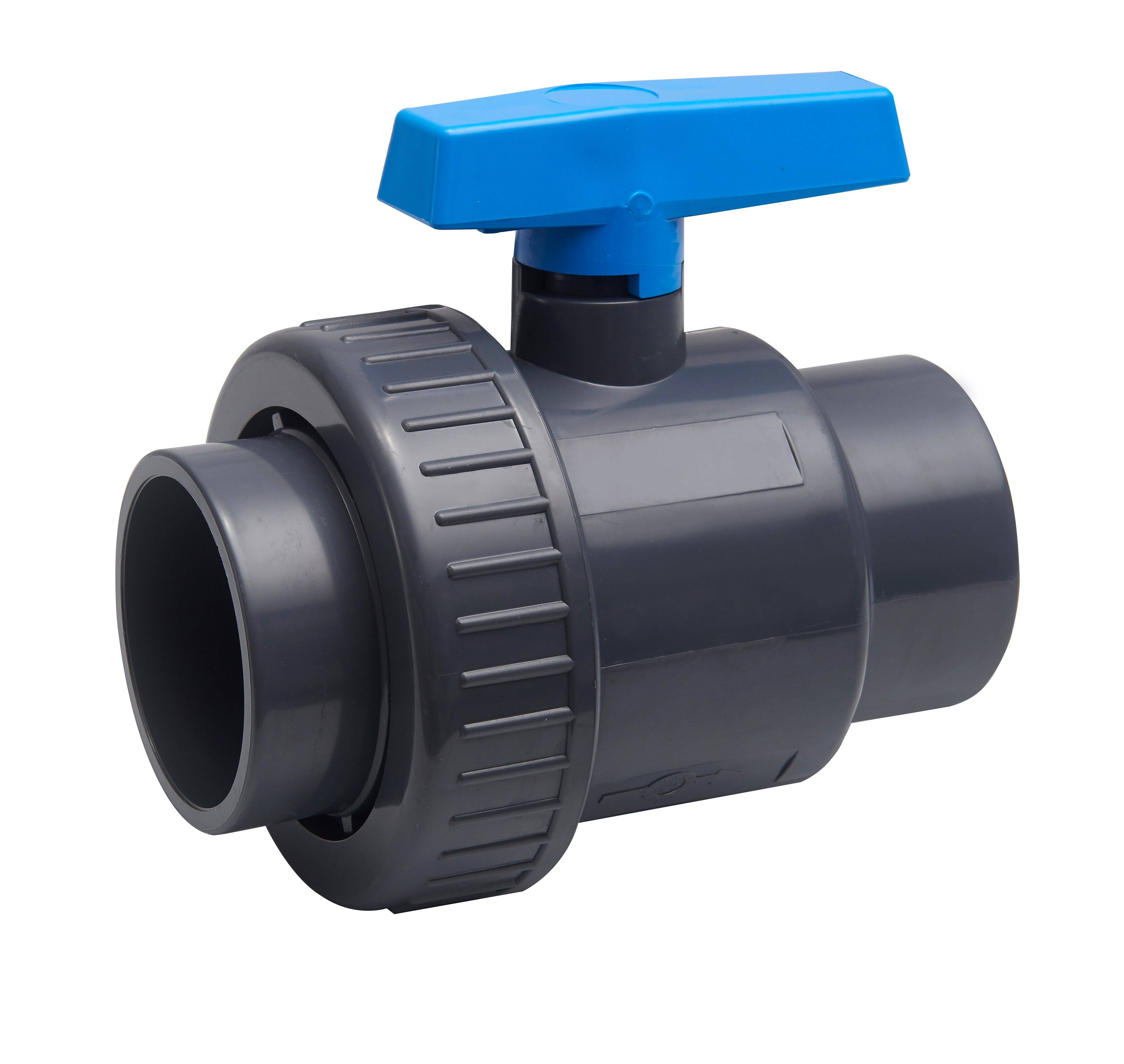 pvc single union ball valve socket