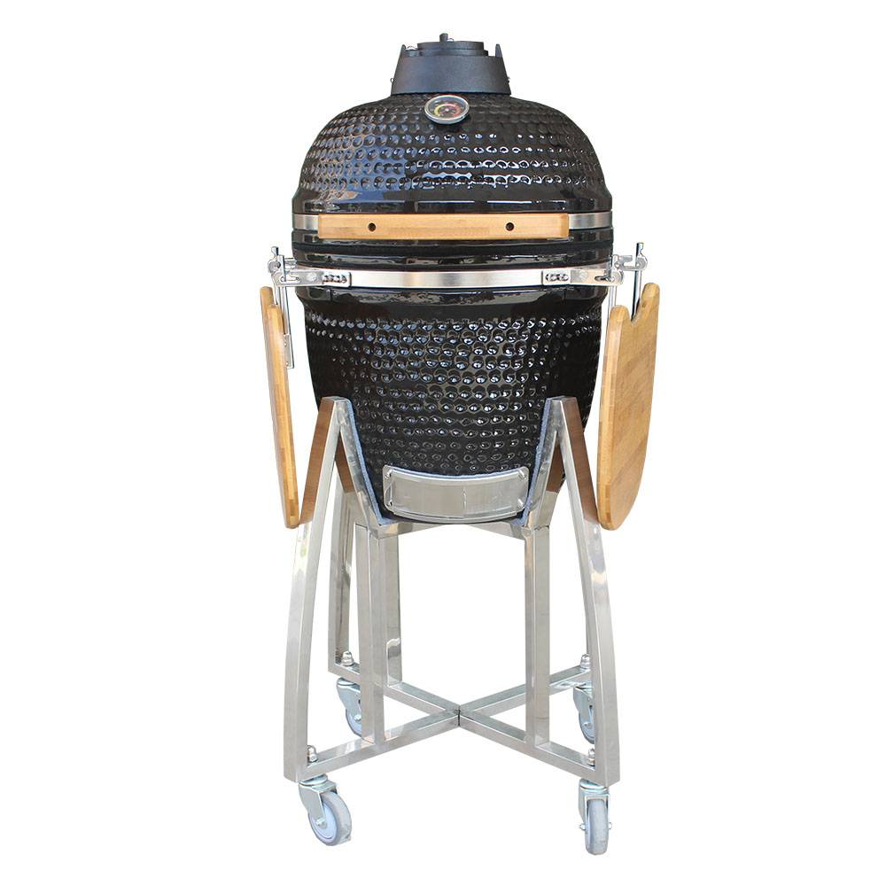 Auplex Medium Egg BBQ Outdoor Ceramic Barbecue Grill