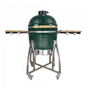 Hot Sale 21 inch Rack Veins China Ceramic Kamado Grill