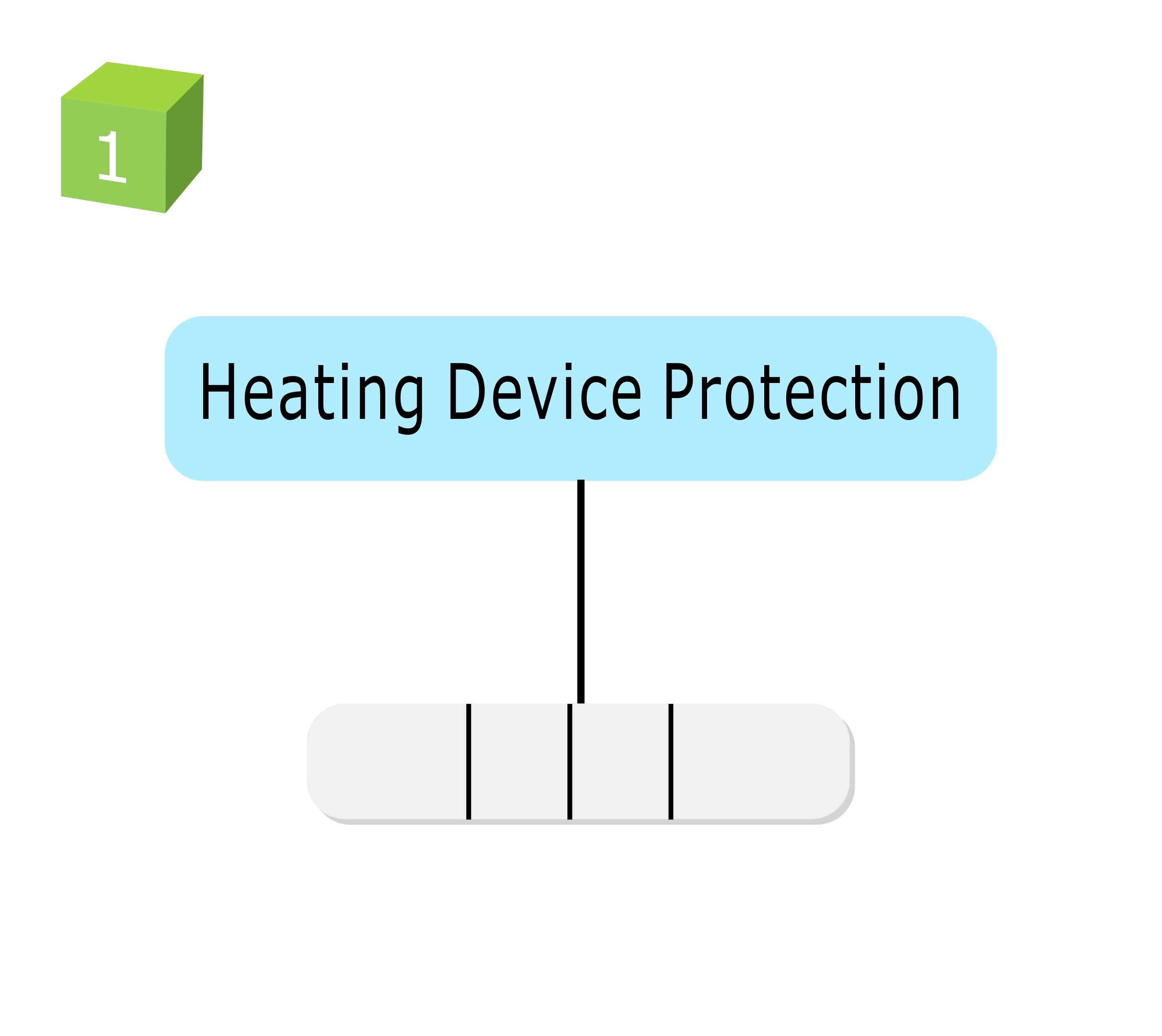 Thermal protection for electric heating:  TCO mounted on Heating device to prevent abnormal temperature rise of heating