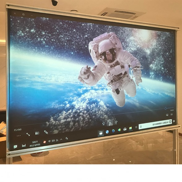 Rear Projector Screen Reflective Holographic Self Adhesive Holographic Projector Film For Advertisement