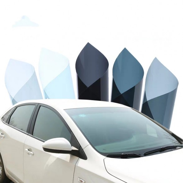 Nano-hybrid carbon enhanced with ceramic technology car front and side window film