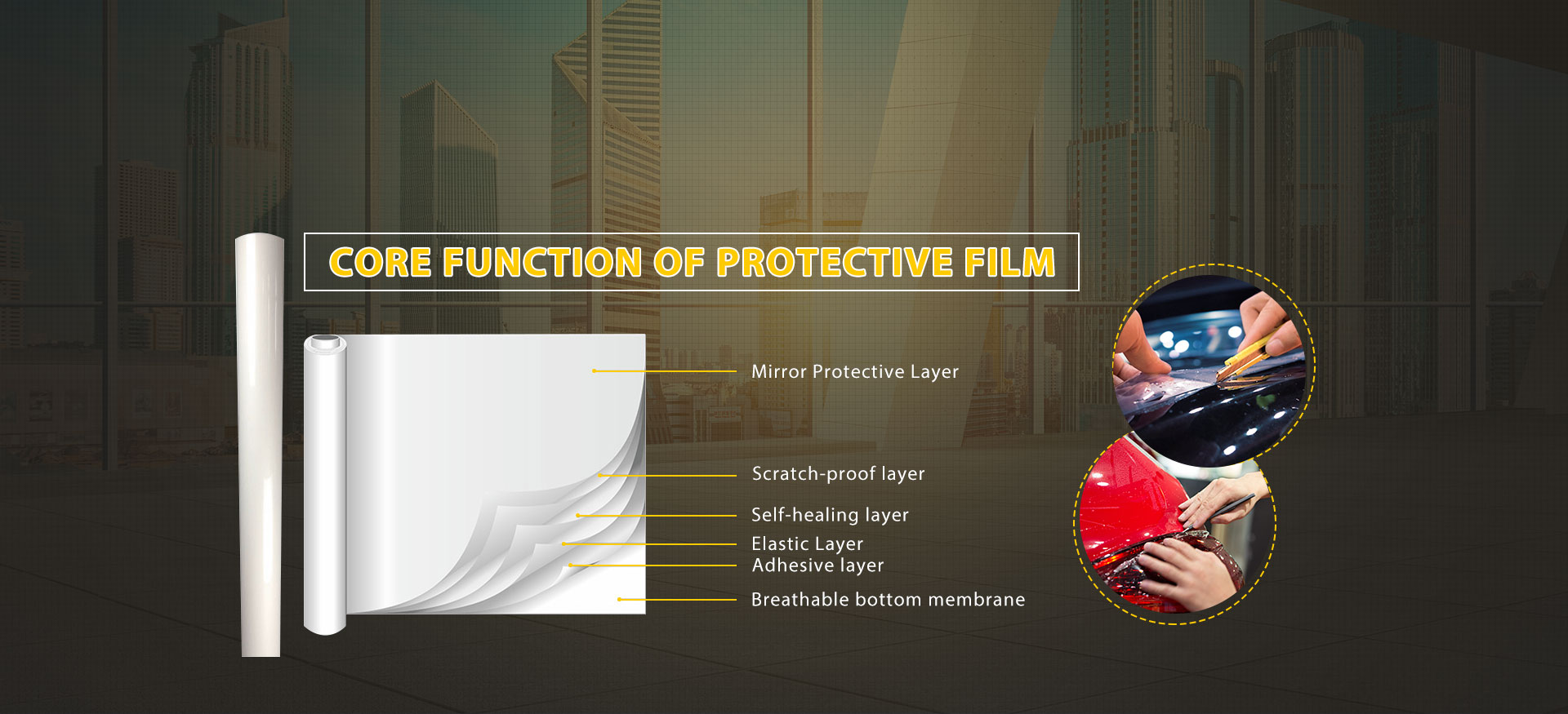 Core function of protective film