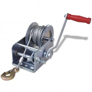Hand Winch (2000 Lbs., Gear Ratio 4:1/8:1 Stee Size:4.5mmx10m) #JY-HW-08S