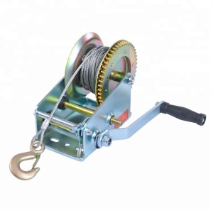 Hand Winch (1800 Lbs., Gear Ratio4:1/8:1 Stee Size:4.5mmx10m) #JY-HW-07S