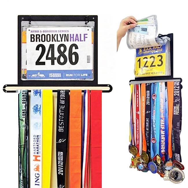 Race BIB medalya Display