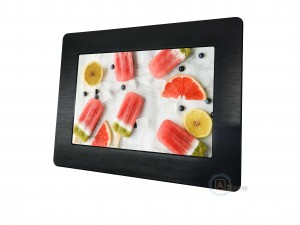 Mini Fanless Capacitive Touch Panel PC DC 24V With 2x Enternet 4 USB Ports