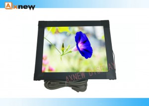 6mm Anti-vandal SAW touch Custom Monitor with VGA DVI 1024X768 For Applications