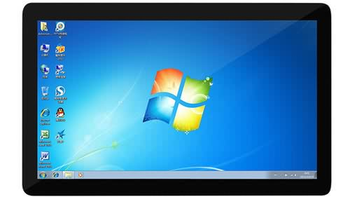 Flat ture design for touch panel pc