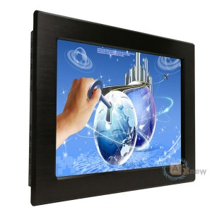12.1 inch 1024X768 Capacitive  Panel Mount Waterproof IP65 Front Touch Screen Monitor