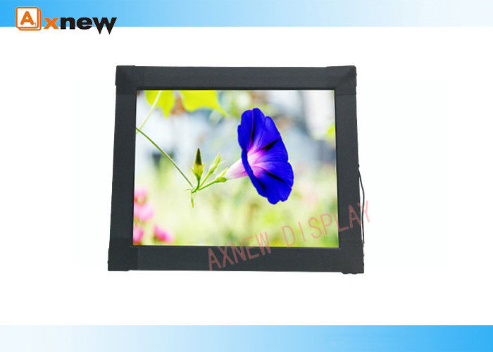 Anti-vandalism 6mm Industrial LCD Touch Screen Monitor waterproof with VGA DVI
