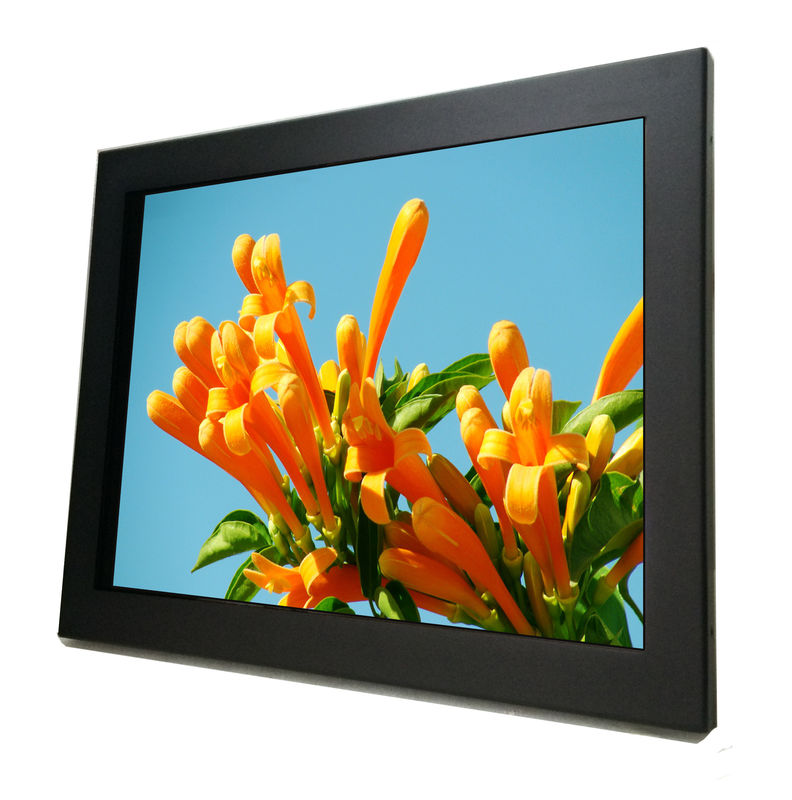 10.4 Inch Industrial Capacitive Touch Monitor Panel Mount , Open Frame Touch Screen Monitor