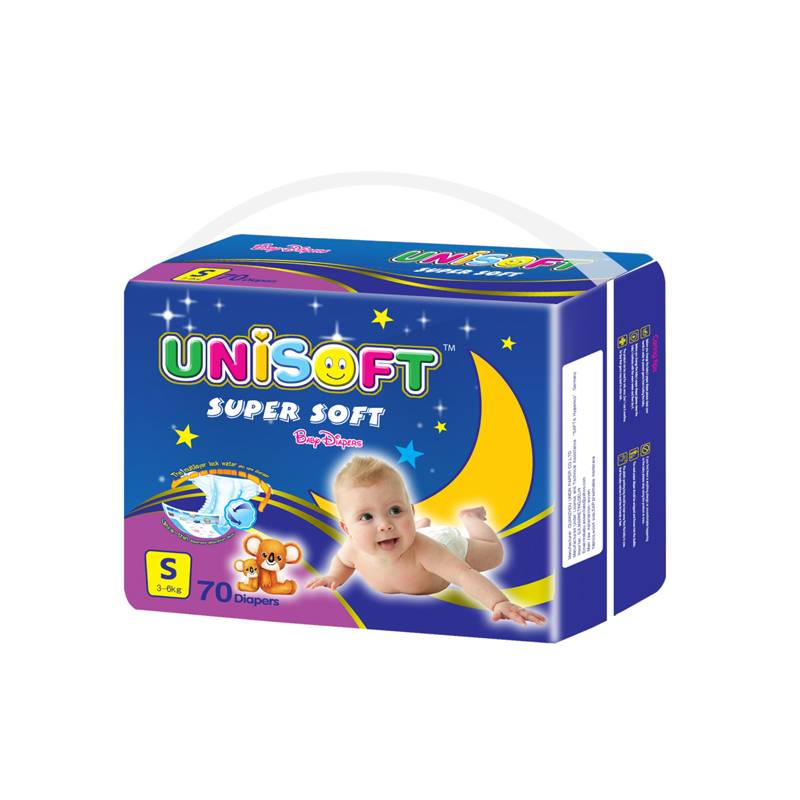 Unisoft Medium packing good quality cheap disposable hot sell baby diapers baby nappy from China for baby child