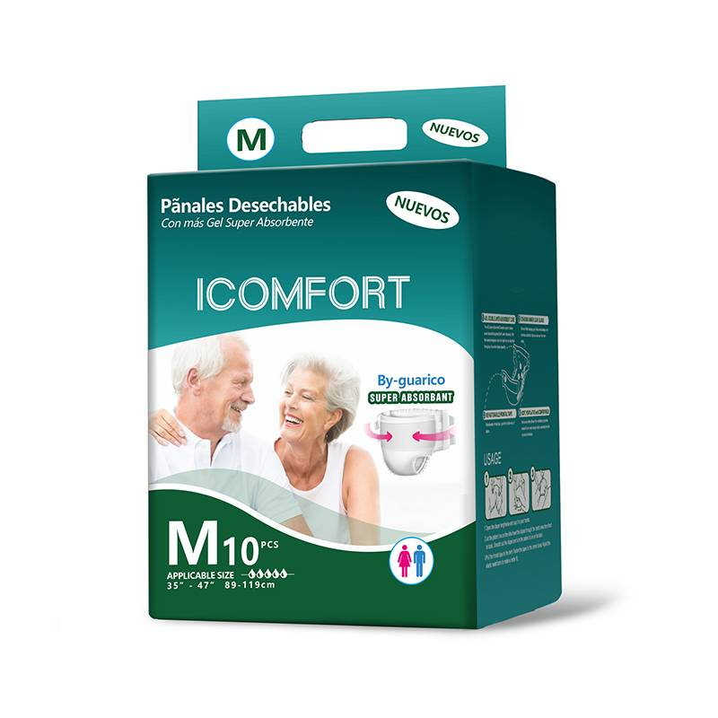 Icomfort Chinese manufacture diapers unisex  disposable diaper adulut cloth like magic tae absorbent adult diapers