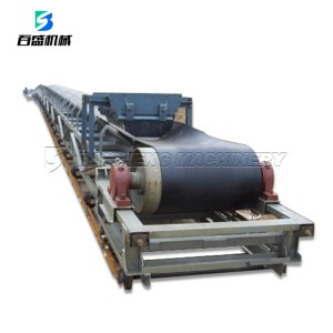 TD75 Carbon steel mini fixed flat rubber Belt conveyor for mining stone corn chips