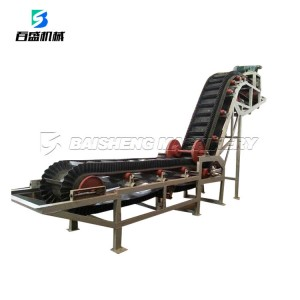 Wear resistant type adjustable skirt rubber sidewall belt conveyor