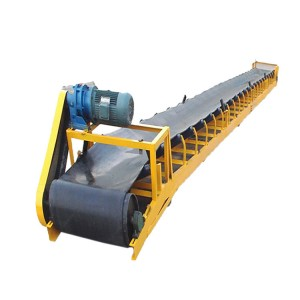 China sand gravel Fixed belt conveyor system for loading