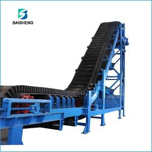 Large angle sidewall  belt conveyors