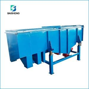 Linear vibrating screen for cement industry
