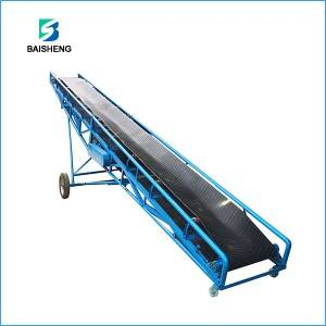 Mobile belt conveyor system for sand, stone and...