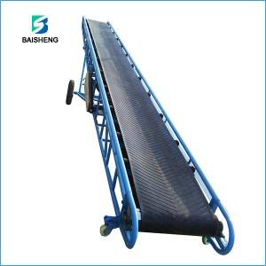 Mobile belt conveyor system for sand, stone and corn