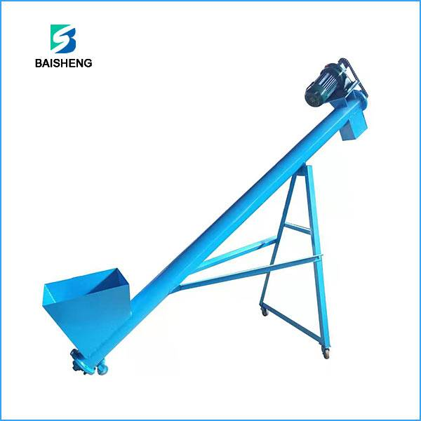 Mobile Powder screw conveyor machine for Sale Featured Image