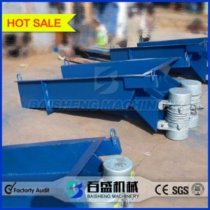 Linear vibrating feeder with double motors
