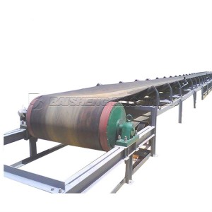 China gravel roller types rubber 800mm width Belt conveyor machine price For Sale