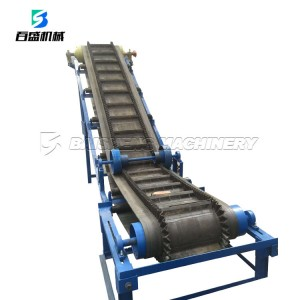 30 to 90 degree curve sidewall incline belt conveyor