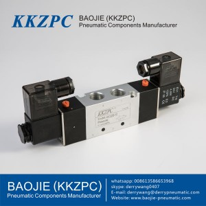 Five-way 400 double coils Series Solenoid Valve, Pneumatic Control Valve 4V430-15