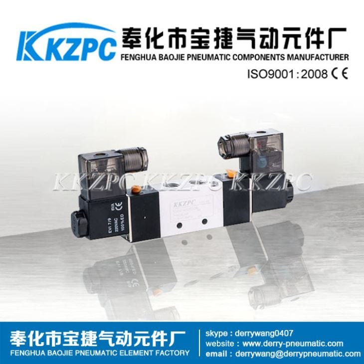Five-way 400 Series Solenoid Valve, Pneumatic Control Valve 4V430-15