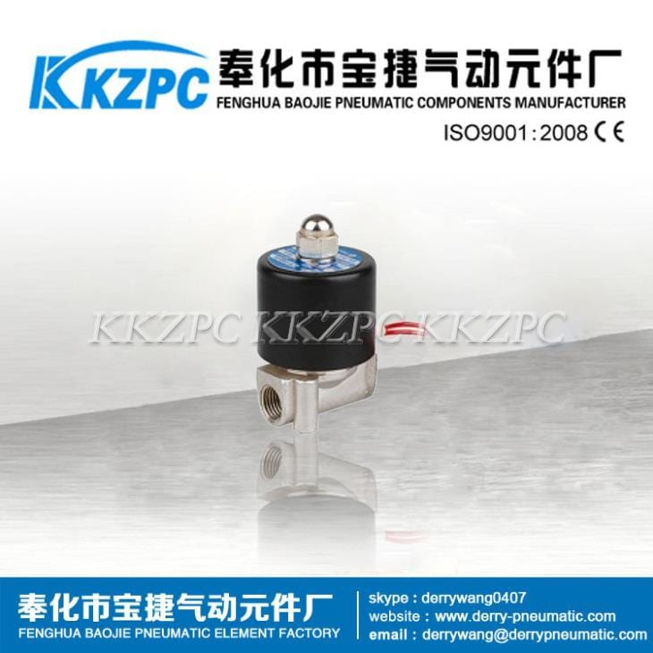 Factory Promotional Mechanical Valve - Normally Closed Stainless Steel Direct Acting Solenoid Valve 2WB-08 – Baojie