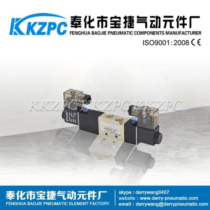 5/3 Way Alloy Material Double Coil Solenoid Valve 4V320-08