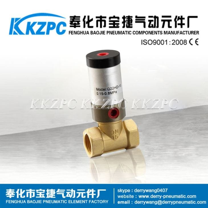 Special Design for 1 Inch Water Solenoid Valve - Popular Type Valves 0.5 Inch Port Size Q22HD-15 Proportional Piston Pneumatic Control Valve – Baojie