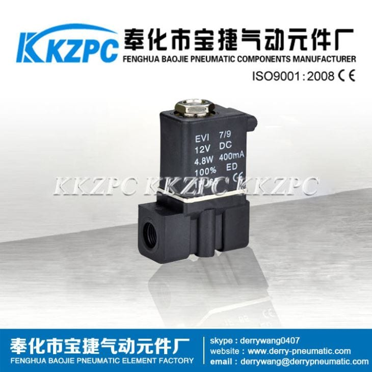 2P025-06 1/8 DC12V Normally Closed Cheap Plastic 2 Way Solenoid Valve