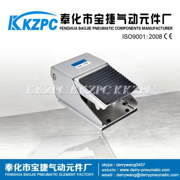 FV320-08 3/2Way Pneumatic Foot Pedal Valve with Alloy Material