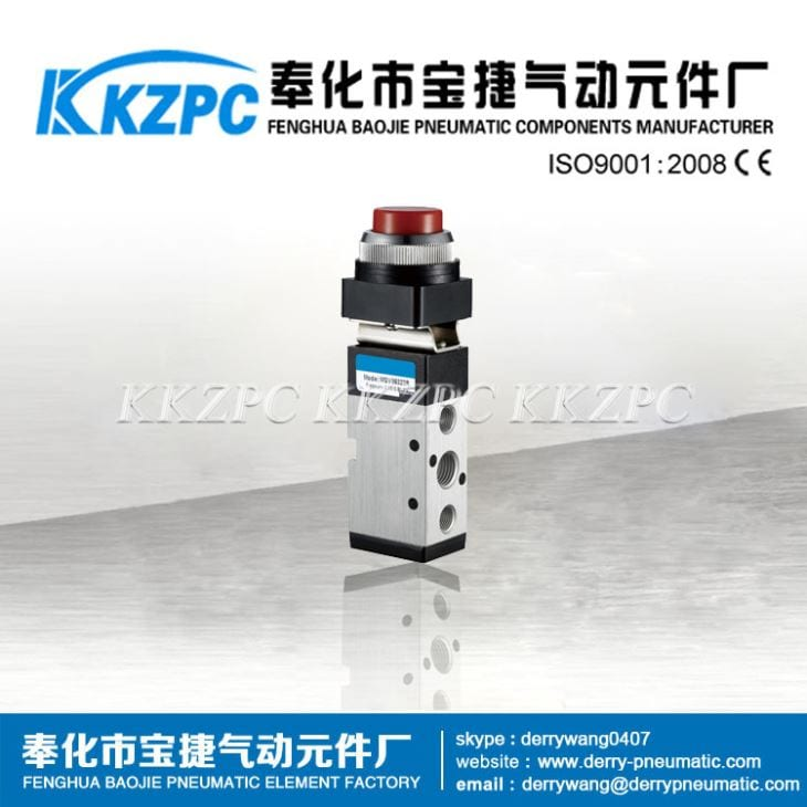 China Wholesale Market MSV86321 3/2 Way Mechanial Pneumatic Push Botton Valve