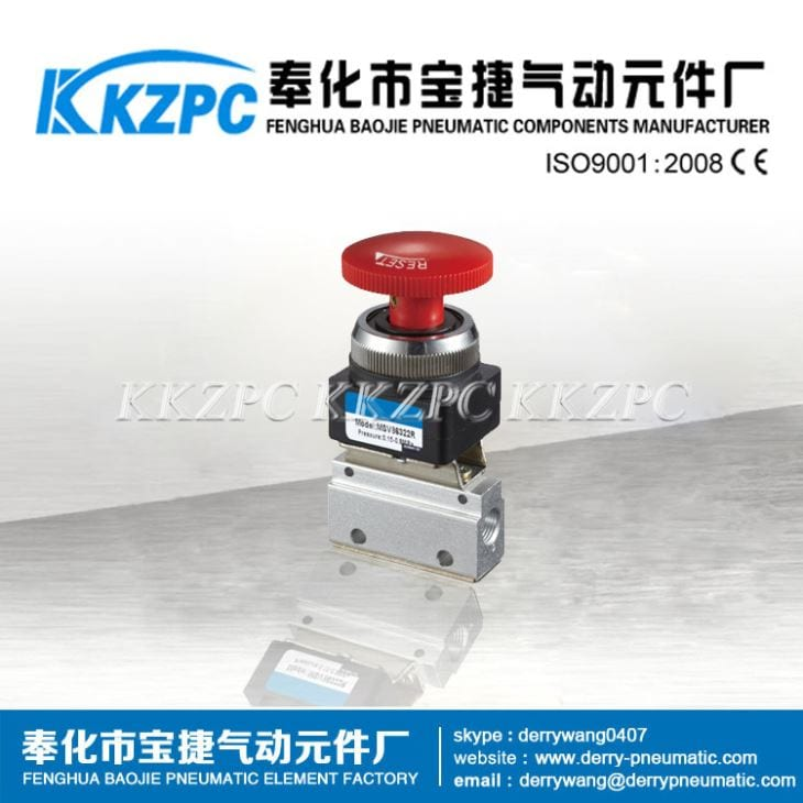 Good Wholesale Vendors Japan Air Solenoid Valve 24v - MOV-03 Mechanical Valve 3 Way Valve – Baojie