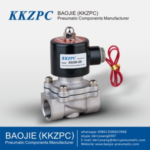 2S Series 2 way direct acting type natural gas 24v stainless steel water electric solenoid valve 2S200-20