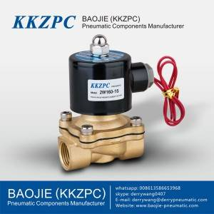 2W160-15 Direct Acting Brass Electric Flow Control Valve