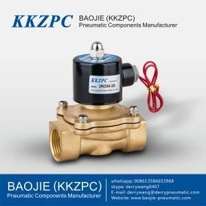 2W350-35 Normally Open Solenoid Valve Direct Brass Water Valve