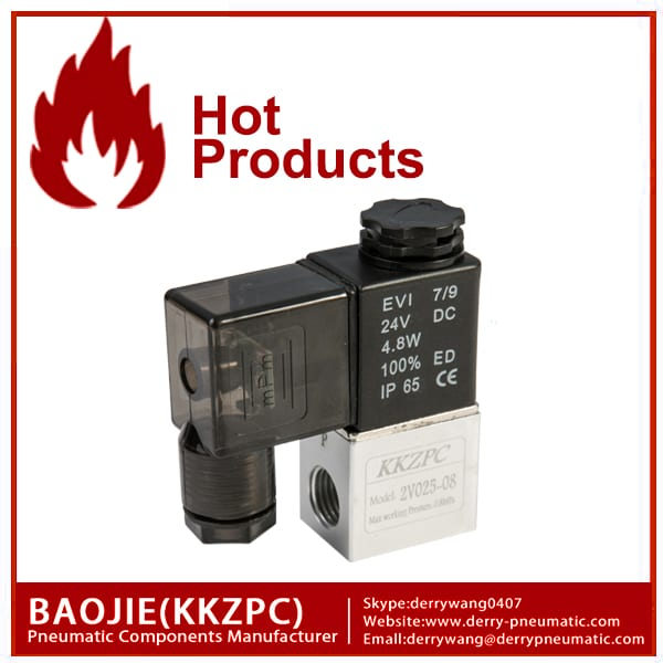 2V025-08 2 way solenoidklapile