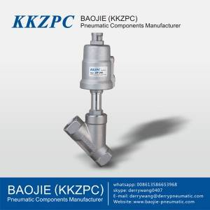 JZF-15s 2 Way Piston-operated Pneuamtic Angle Seat Valves for Neutral and Aggressive Liquids