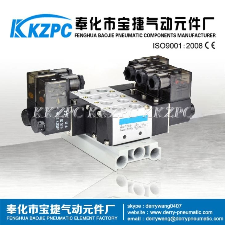 Pneumatic Parts Aluminum Alloy Solenoid Valve Manifold Base