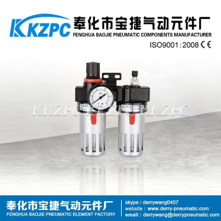 FRL Pneumatic Filter Regulator Lubricator Combination BFC2000