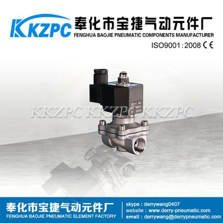1/2 Inch IP56 IP65 Coil Stainless Steel 24V DC Solenoid Valve