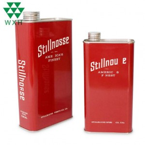 750ml Stainless Steel Wine Can Vodka Whisky Storage Packaging Can with Screw Lid 304 Stainless Steel