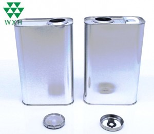 Square Tin 0.5L Lubricant Oil Packaging Can with Metal Cap