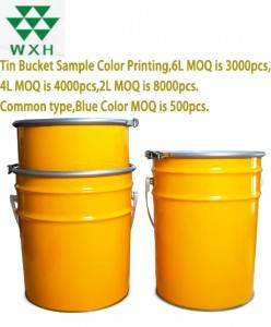 Factory Supply 20L Metal Bucket Paint Tin Pail with Clamp Lid